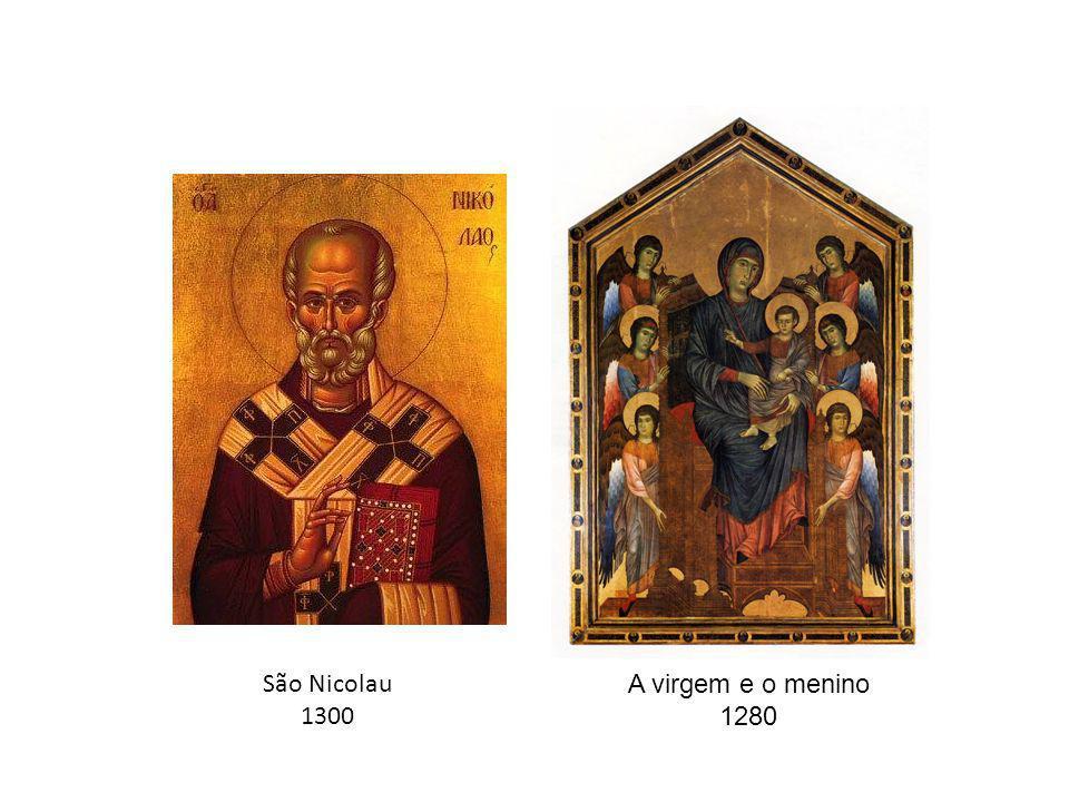 São Nicolau 1300 A virgem e o menino 1280