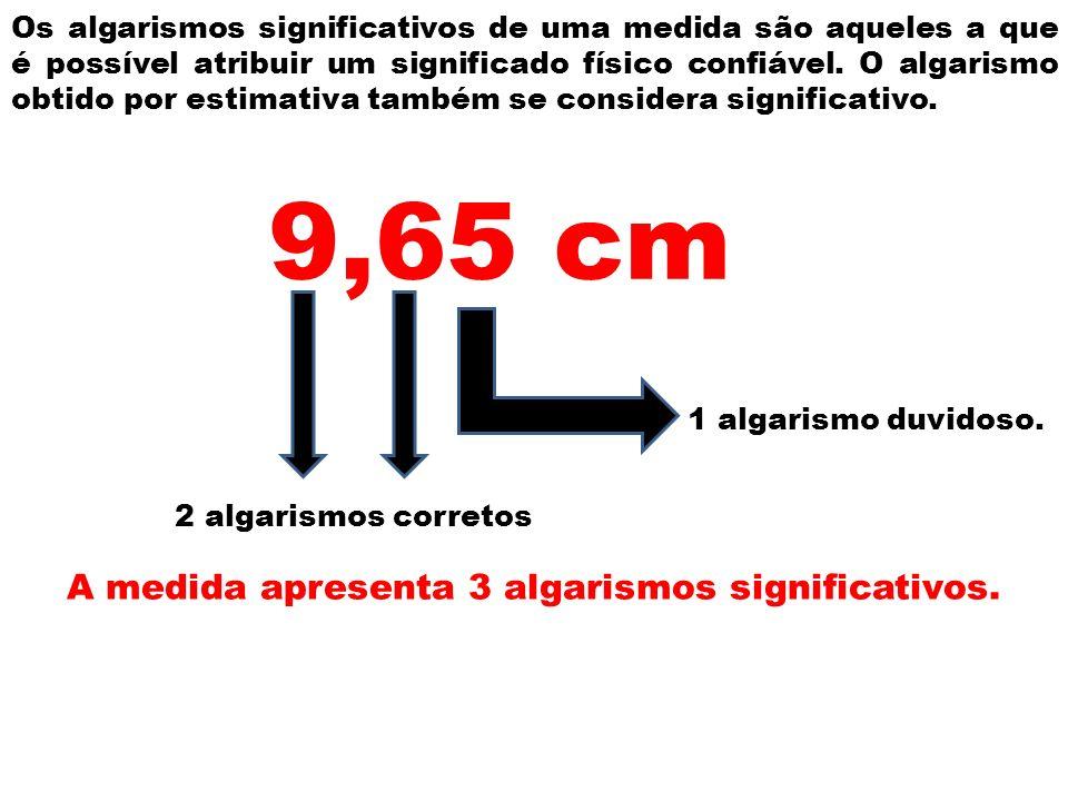 A medida apresenta 3 algarismos significativos.