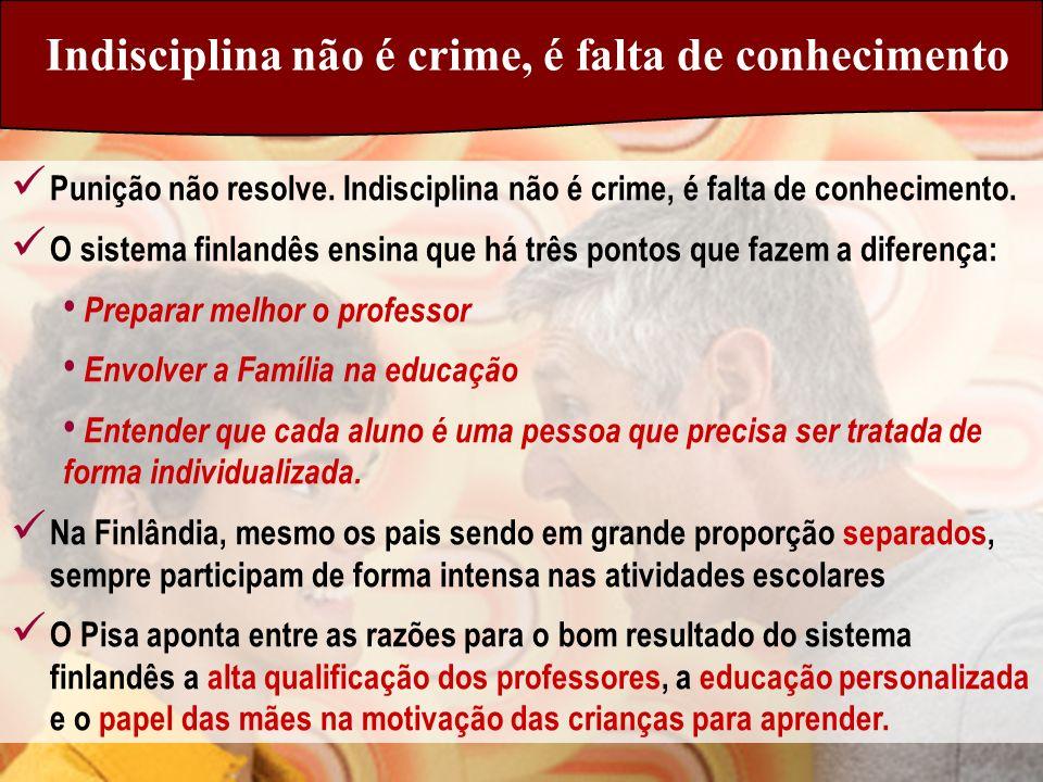Indisciplina não é crime, é falta de conhecimento