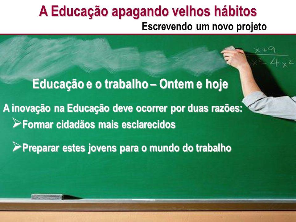 A Educação apagando velhos hábitos