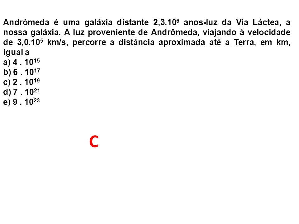 Andrômeda é uma galáxia distante 2,3