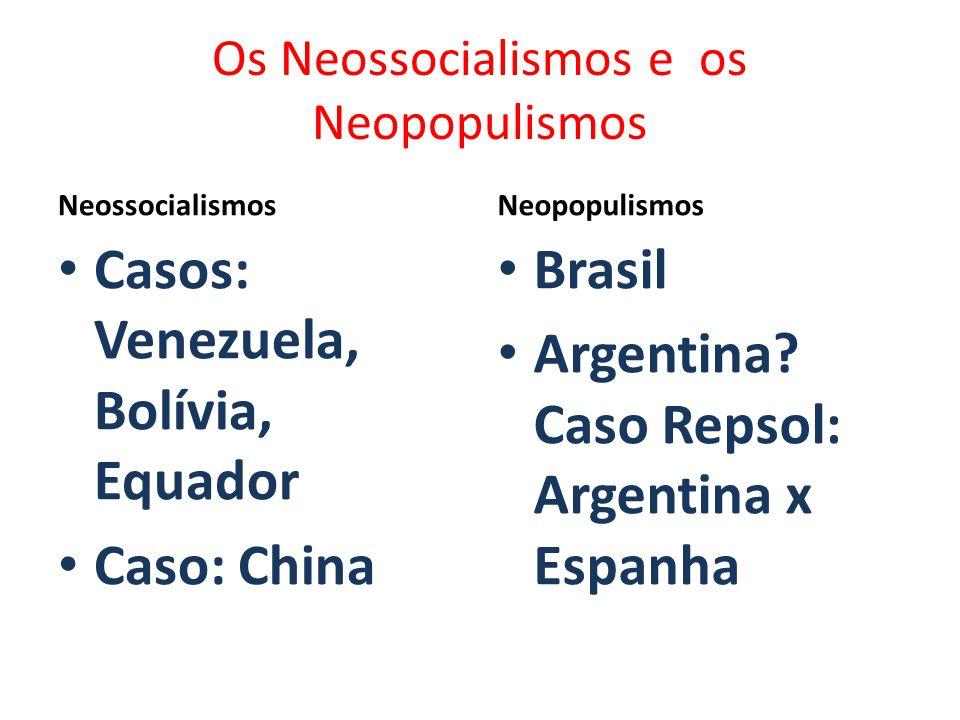 Os Neossocialismos e os Neopopulismos