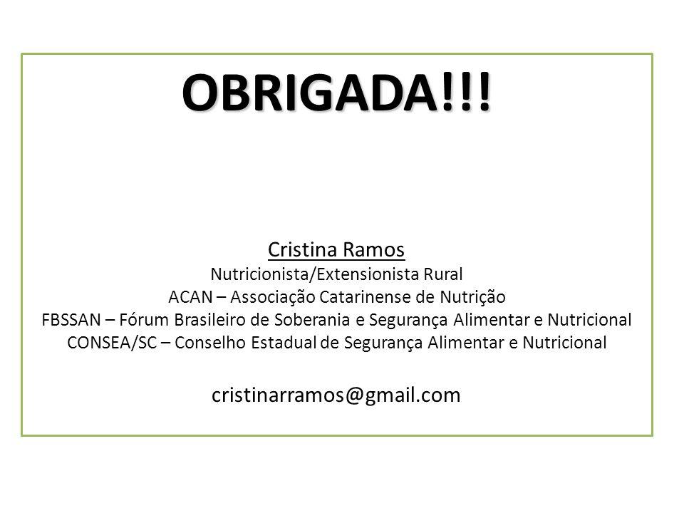 OBRIGADA!!! Cristina Ramos cristinarramos@gmail.com