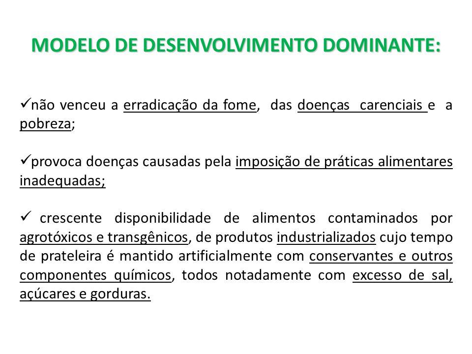 MODELO DE DESENVOLVIMENTO DOMINANTE: