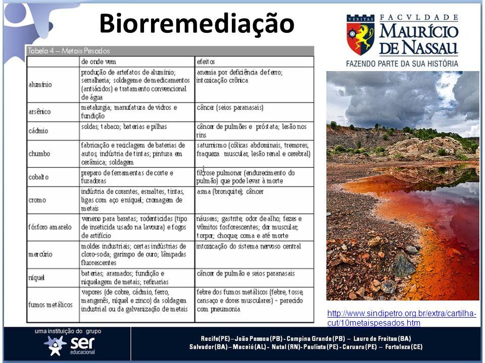 Biorremediação http://www.sindipetro.org.br/extra/cartilha-cut/10metaispesados.htm