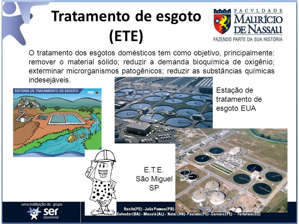 Tratamento de esgoto (ETE)