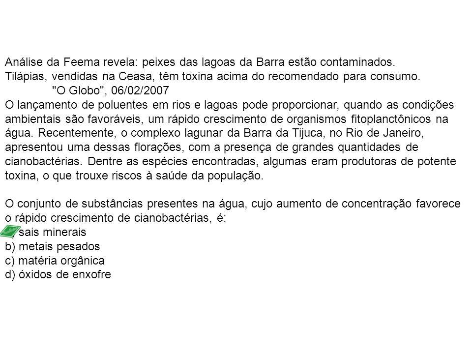 Análise da Feema revela: peixes das lagoas da Barra estão contaminados.