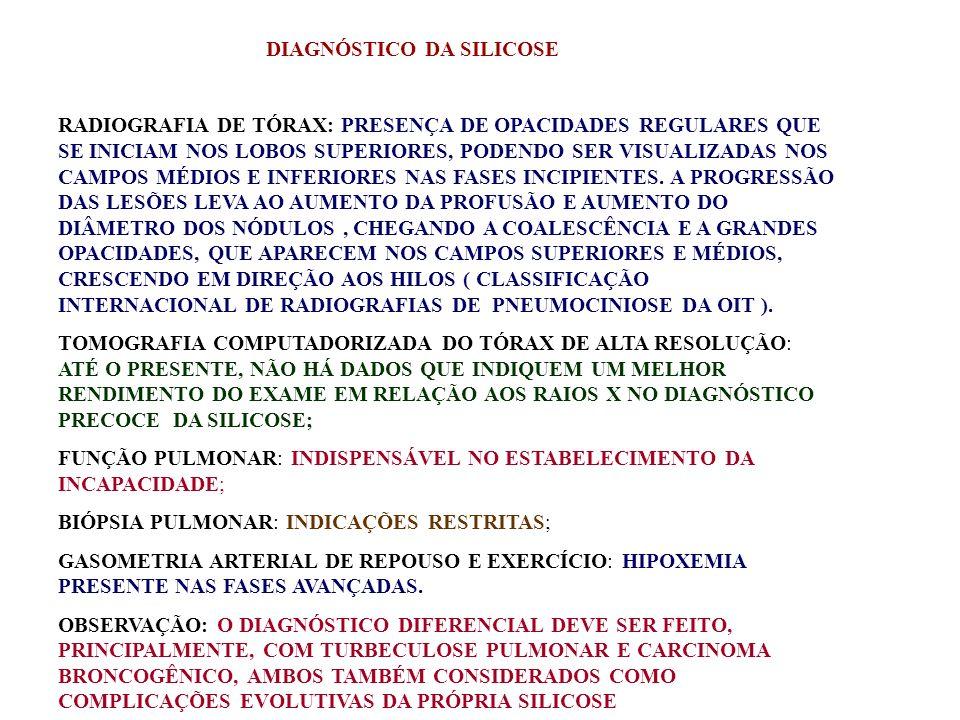 DIAGNÓSTICO DA SILICOSE