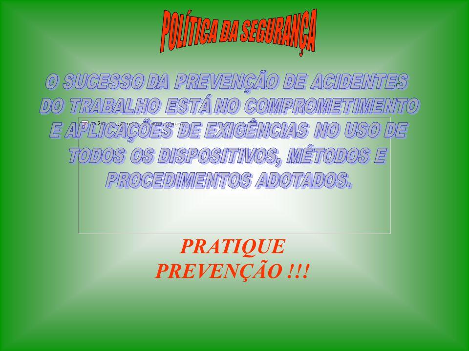 POLÍTICA DA SEGURANÇA PRATIQUE PREVENÇÃO !!!