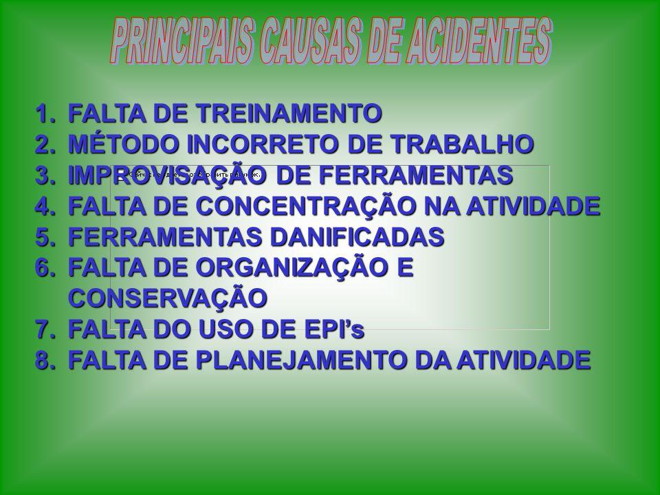 PRINCIPAIS CAUSAS DE ACIDENTES