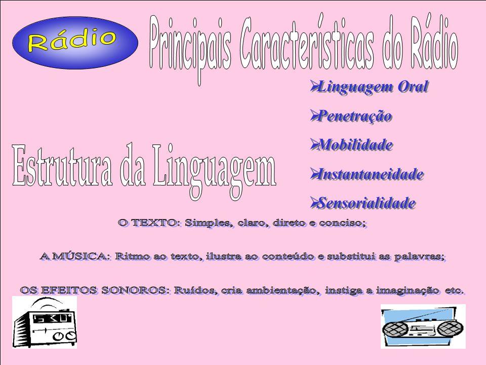 Principais Características do Rádio Estrutura da Linguagem