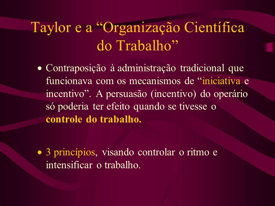 Taylor e a Organização Científica do Trabalho