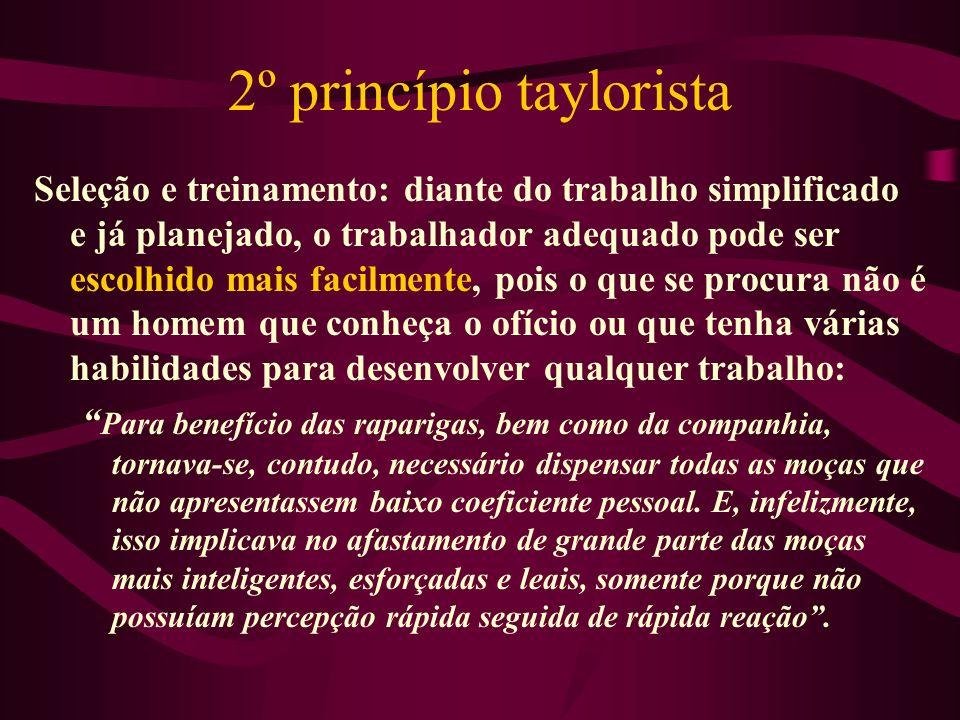 2º princípio taylorista