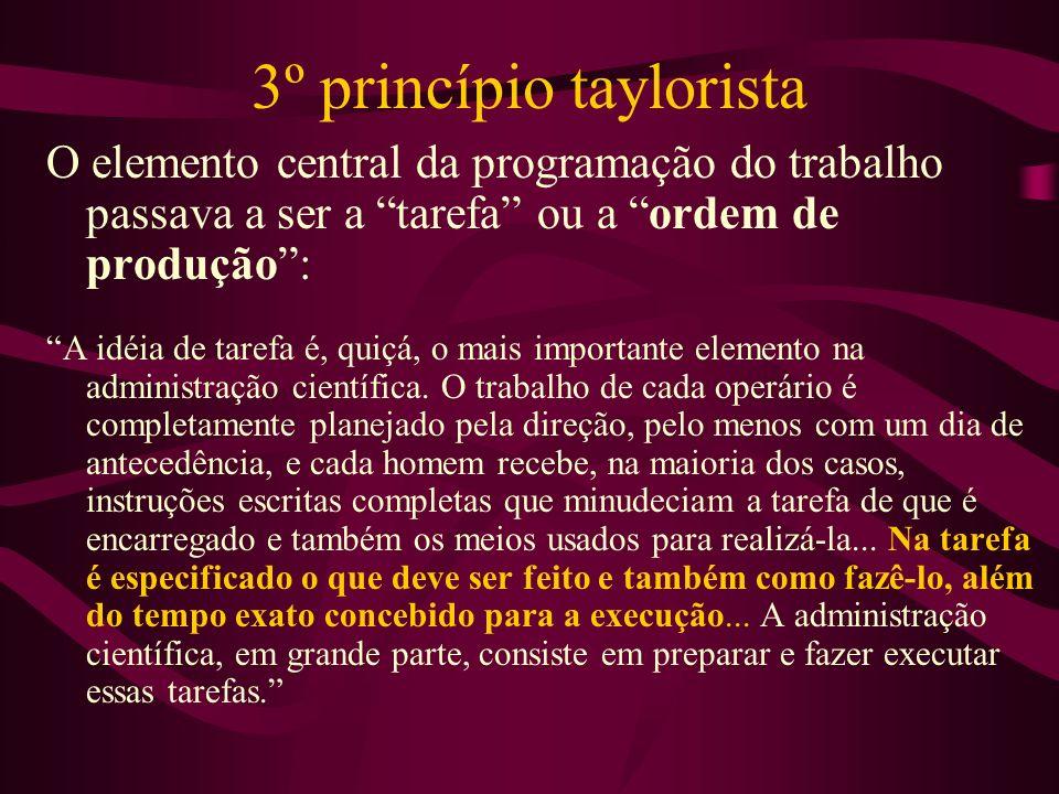 3º princípio taylorista