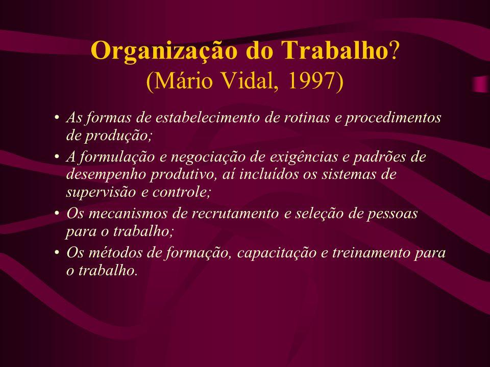 Organização do Trabalho (Mário Vidal, 1997)
