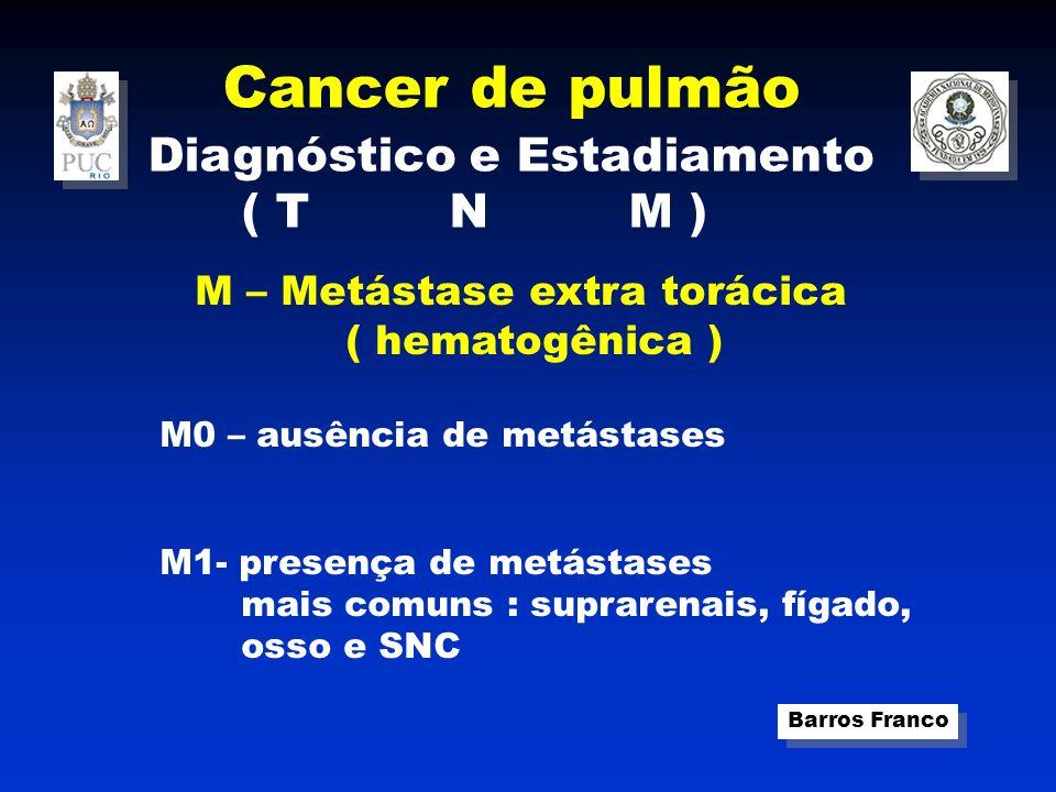 Cancer de pulmão Diagnóstico e Estadiamento ( T N M ) ( hematogênica )