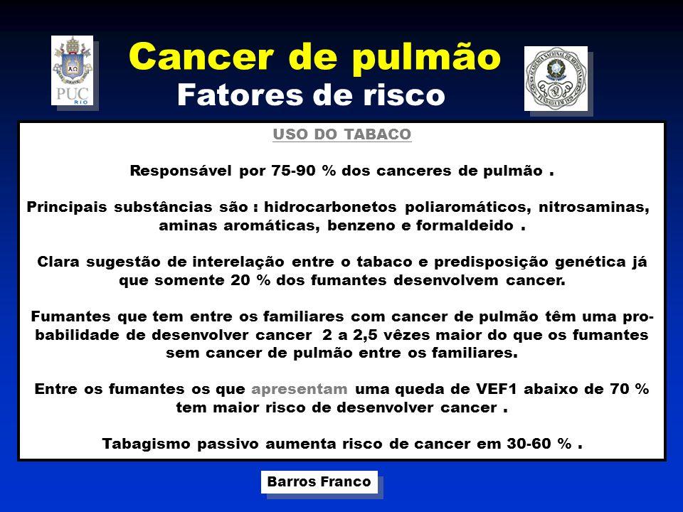 Cancer de pulmão Fatores de risco USO DO TABACO