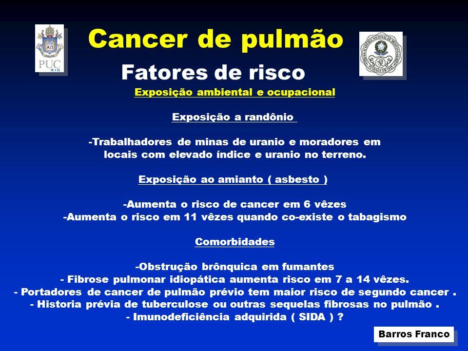 Cancer de pulmão Fatores de risco Exposição ambiental e ocupacional