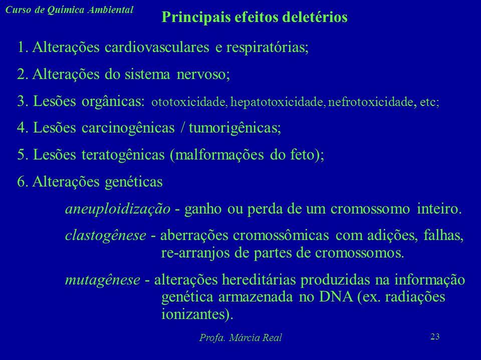 Principais efeitos deletérios