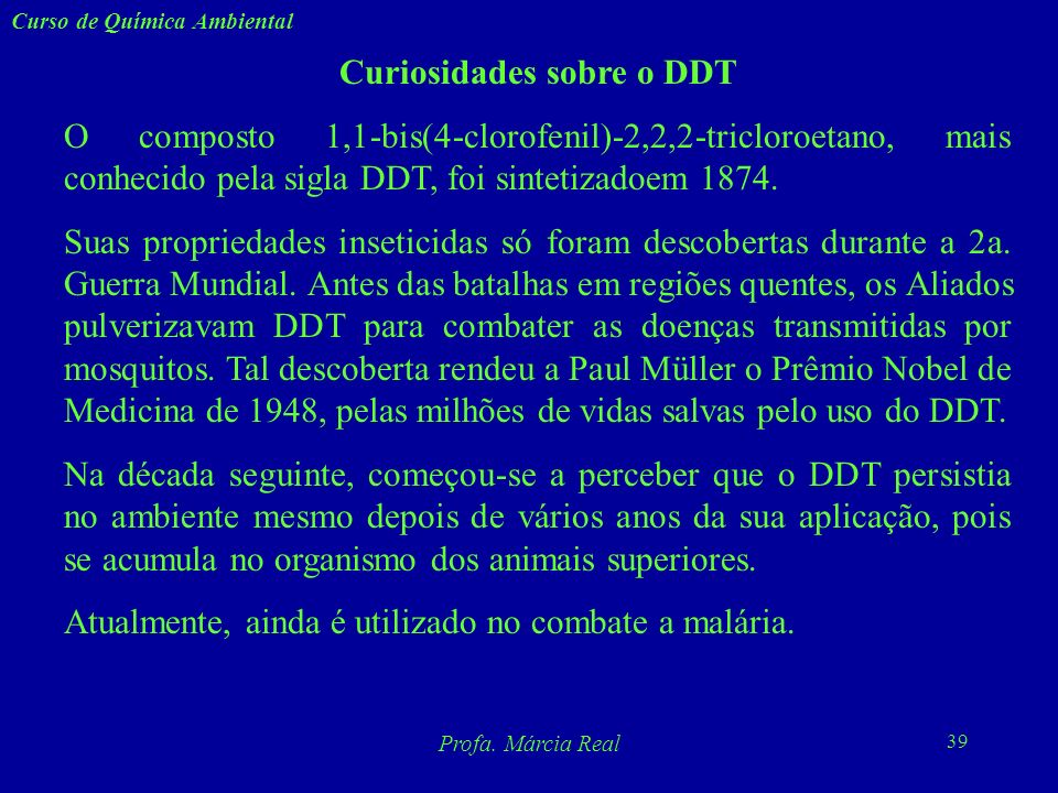 Curiosidades sobre o DDT