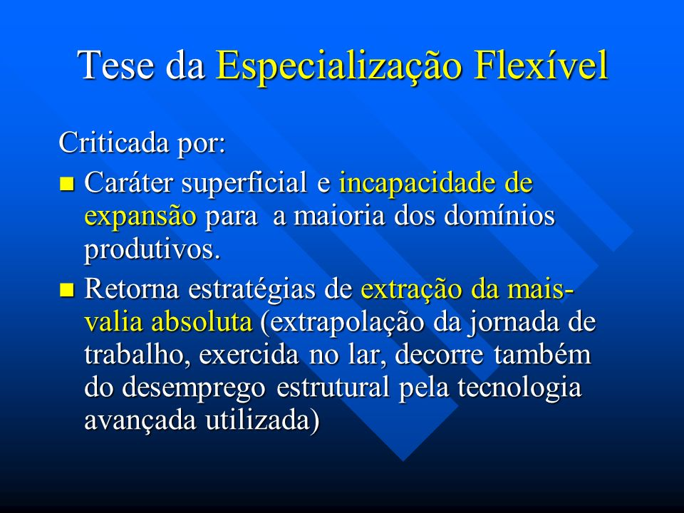 Tese da Especialização Flexível