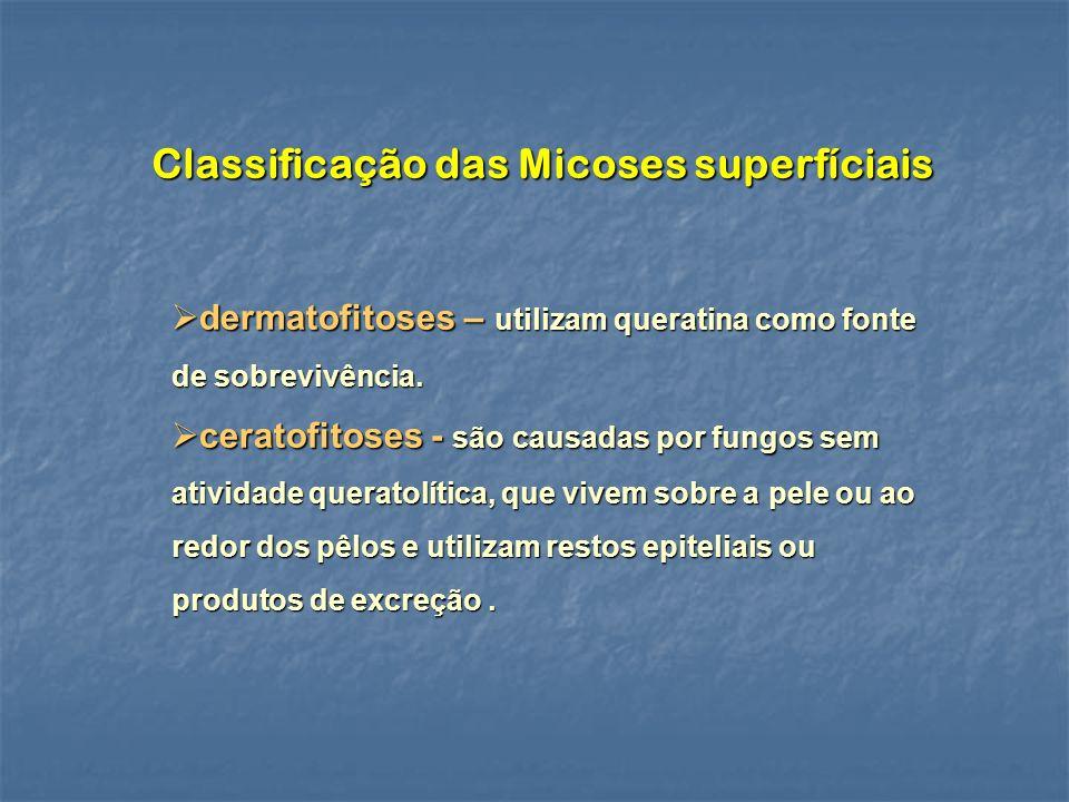 Classificação das Micoses superfíciais