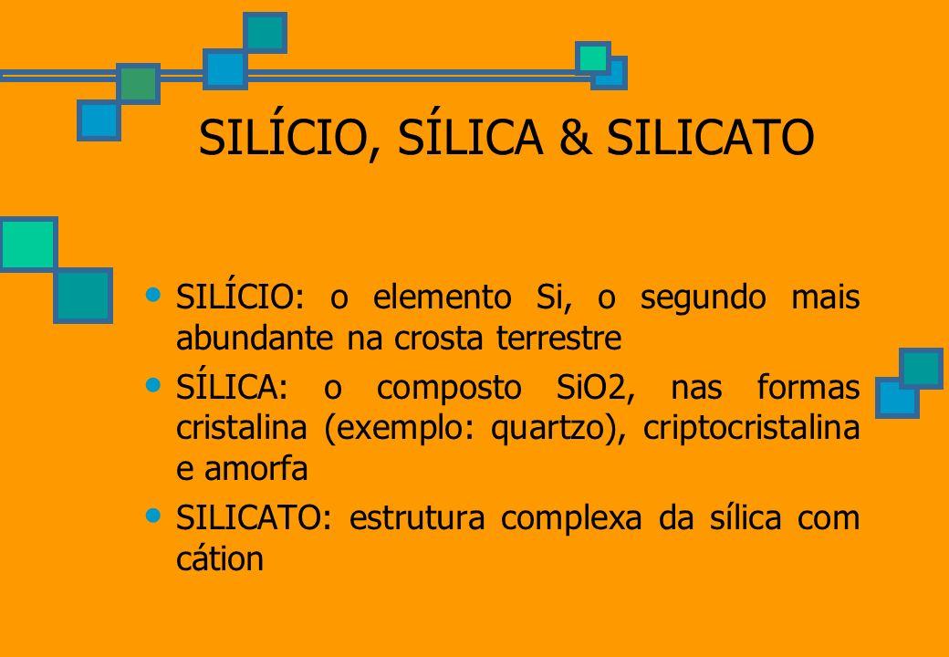 SILÍCIO, SÍLICA & SILICATO