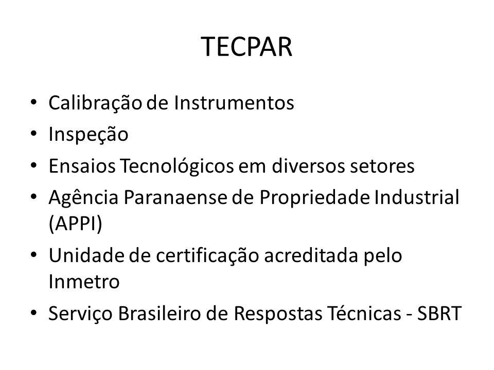 TECPAR Calibração de Instrumentos Inspeção