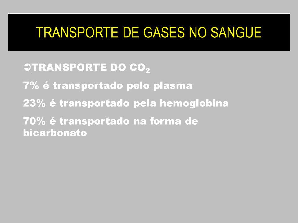 TRANSPORTE DE GASES NO SANGUE