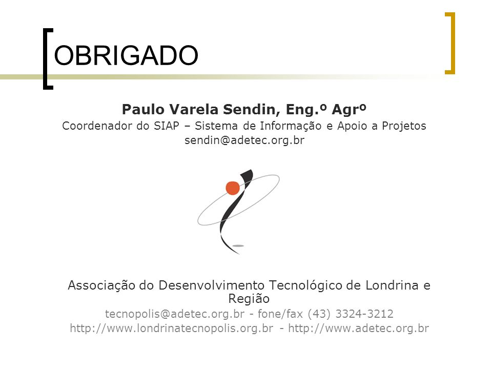 Paulo Varela Sendin, Eng.º Agrº