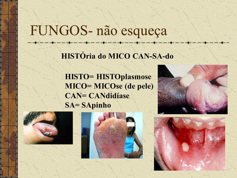 FUNGOS- não esqueça HISTÓria do MICO CAN-SA-do
