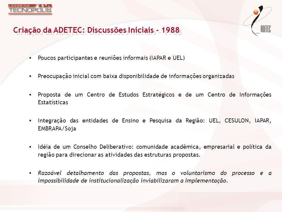 Criação da ADETEC: Discussões Iniciais - 1988