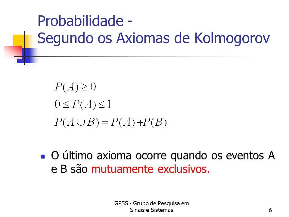 Probabilidade - Segundo os Axiomas de Kolmogorov