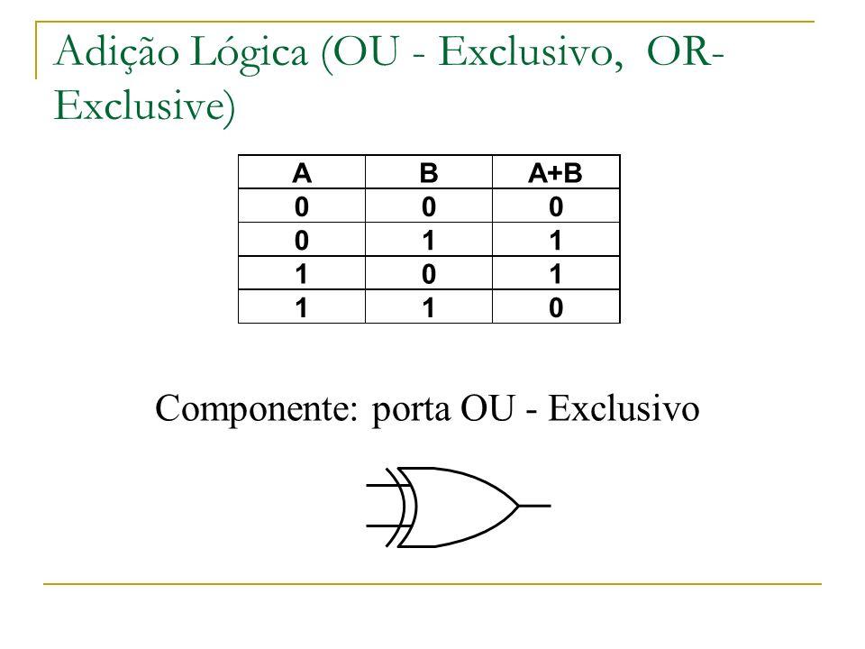 Adição Lógica (OU - Exclusivo, OR-Exclusive)