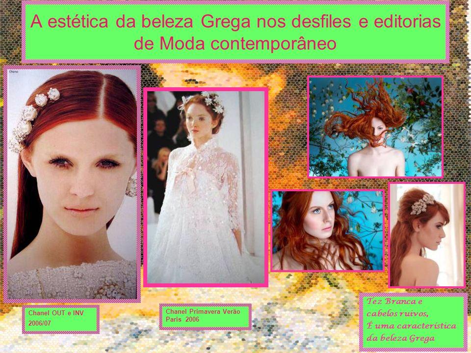 A estética da beleza Grega nos desfiles e editorias de Moda contemporâneo