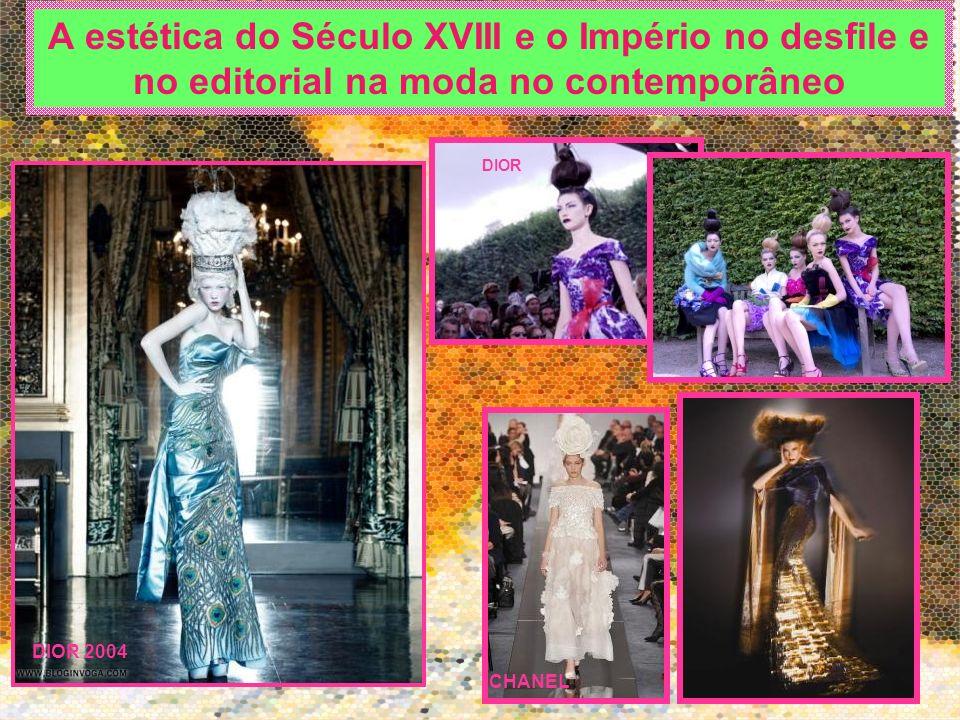 A estética do Século XVIII e o Império no desfile e no editorial na moda no contemporâneo