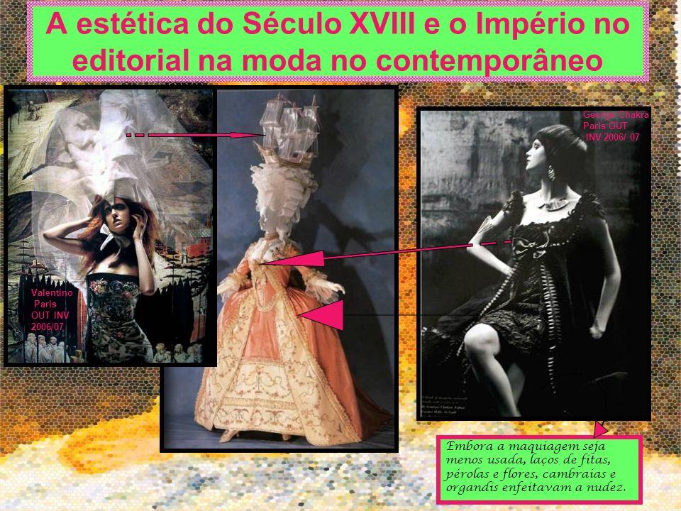 A estética do Século XVIII e o Império no editorial na moda no contemporâneo