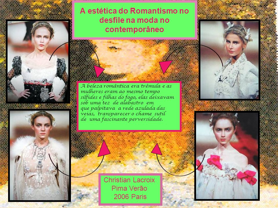 A estética do Romantismo no desfile na moda no contemporâneo