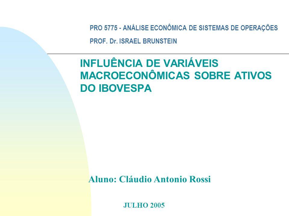 INFLUÊNCIA DE VARIÁVEIS MACROECONÔMICAS SOBRE ATIVOS DO IBOVESPA