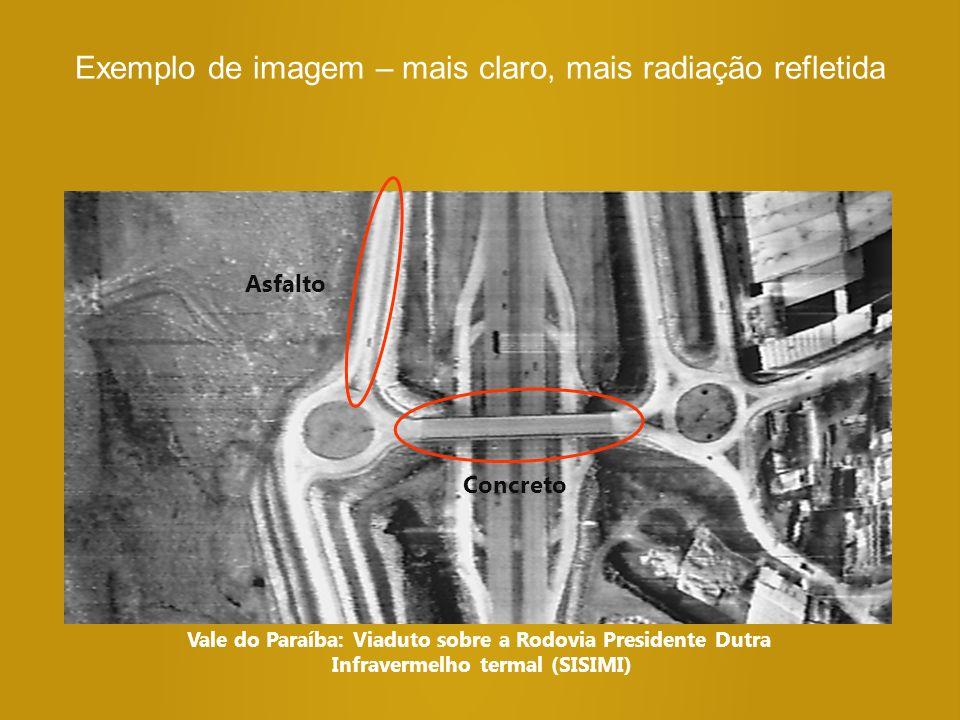 Exemplo de imagem – mais claro, mais radiação refletida