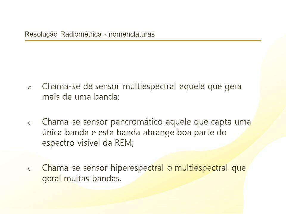 Resolução Radiométrica - nomenclaturas