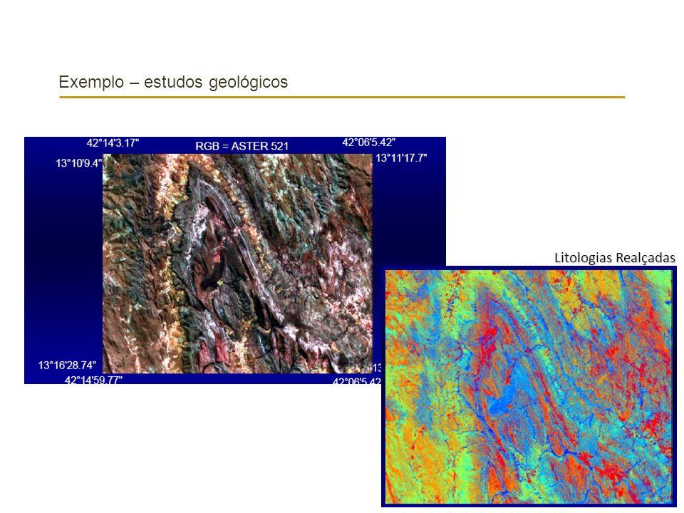 Exemplo – estudos geológicos
