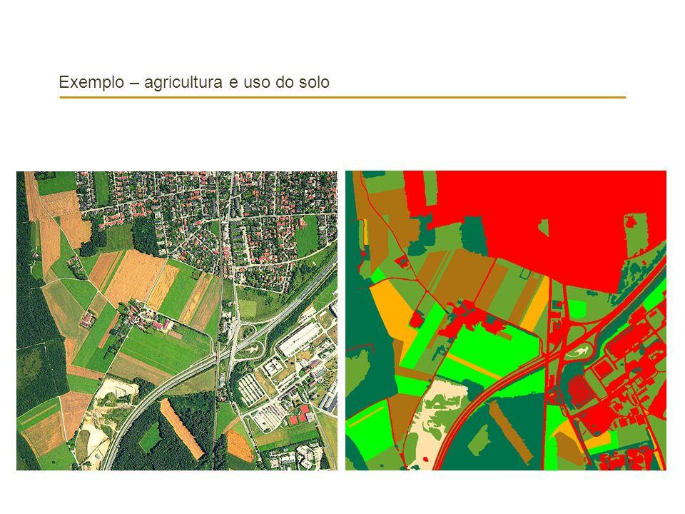 Exemplo – agricultura e uso do solo