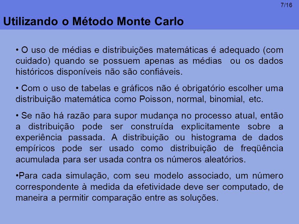 Utilizando o Método Monte Carlo