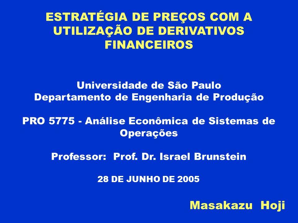 ESTRATÉGIA DE PREÇOS COM A UTILIZAÇÃO DE DERIVATIVOS FINANCEIROS