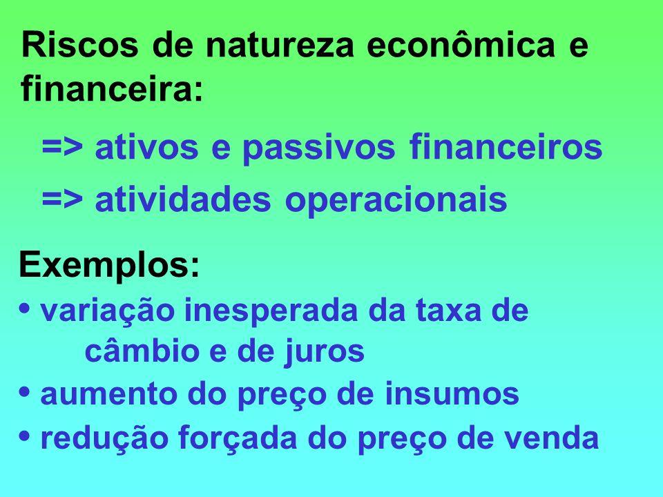Riscos de natureza econômica e financeira: