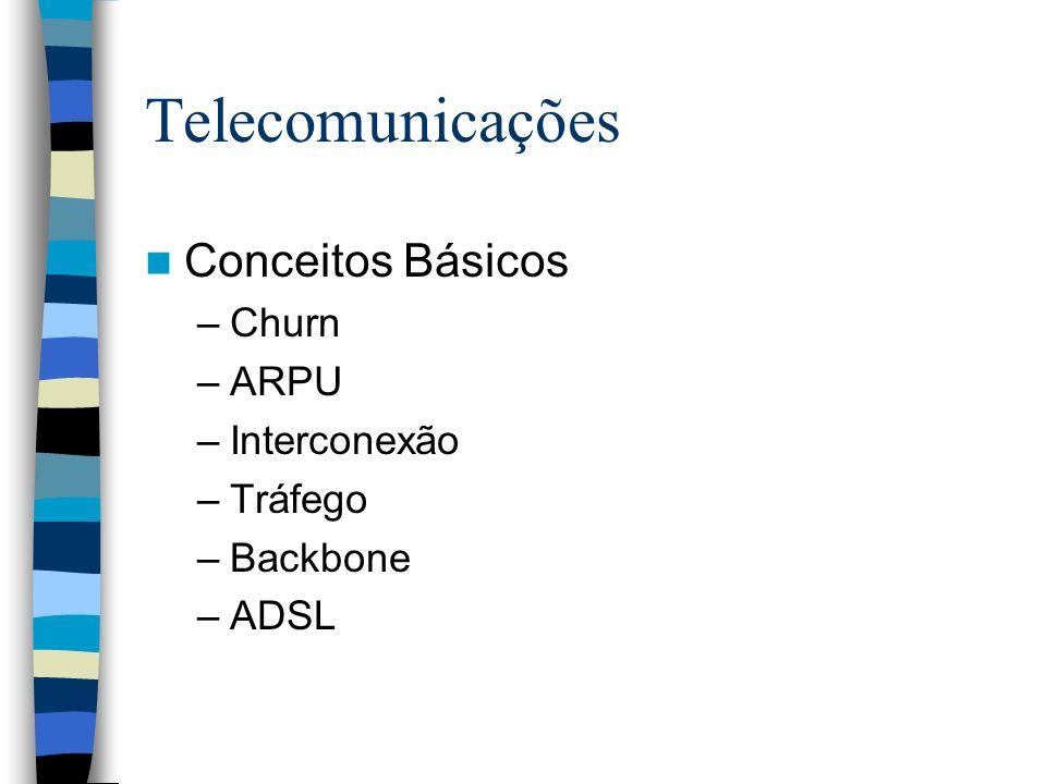 Telecomunicações Conceitos Básicos Churn ARPU Interconexão Tráfego