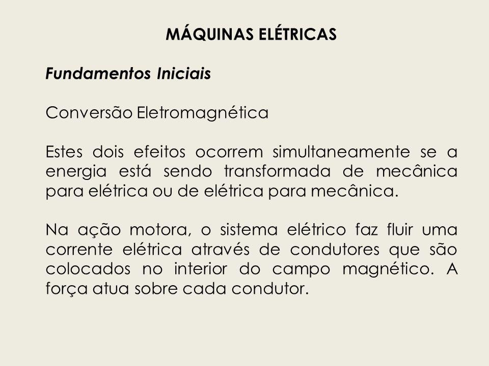 MÁQUINAS ELÉTRICASFundamentos Iniciais. Conversão Eletromagnética.