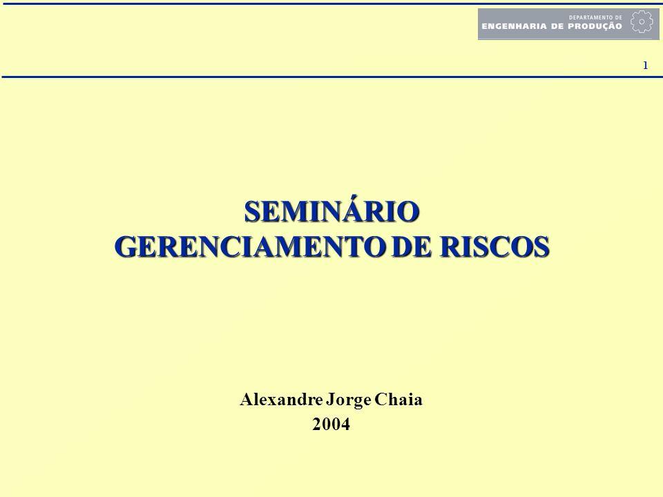 SEMINÁRIO GERENCIAMENTO DE RISCOS