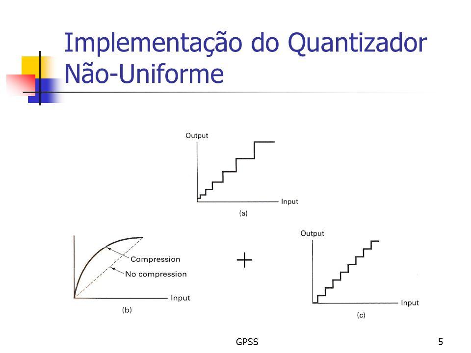 Implementação do Quantizador Não-Uniforme